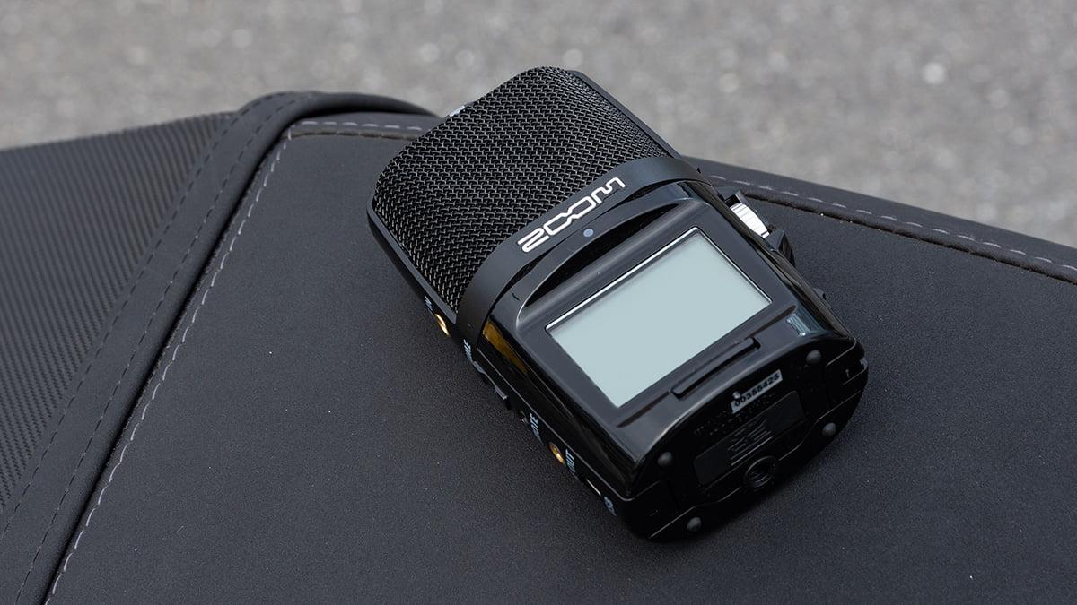 ZOOM H2nならバイクの排気音をキレイに録音できる