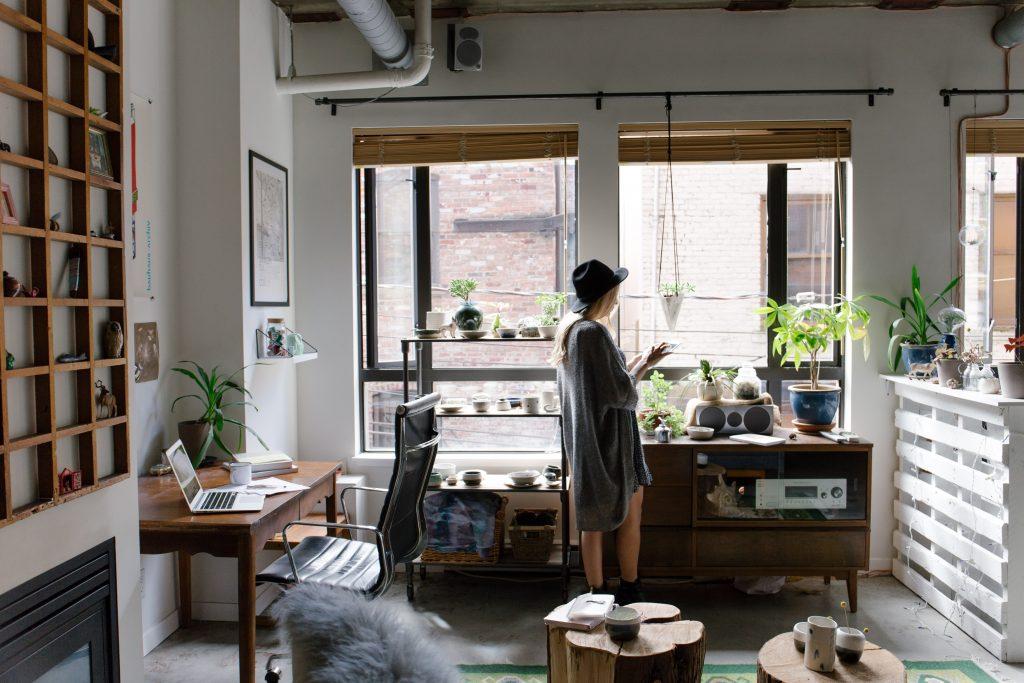 リラックス空間と仕事空間を分けれるのは大きい